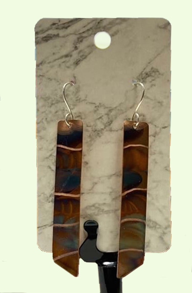 flame fire painted earrings